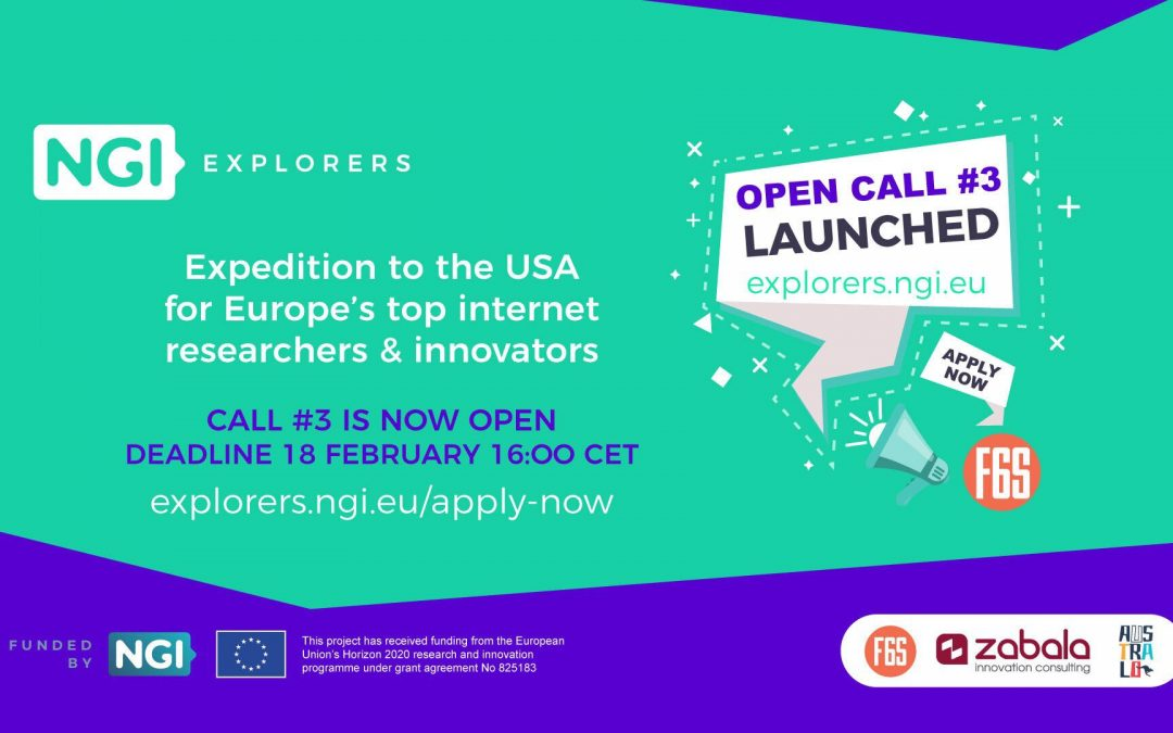 NGI Explorers just launched its 3rd Open Call for Technology Expedition in the US.